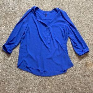 NYDJ royal blue blouse